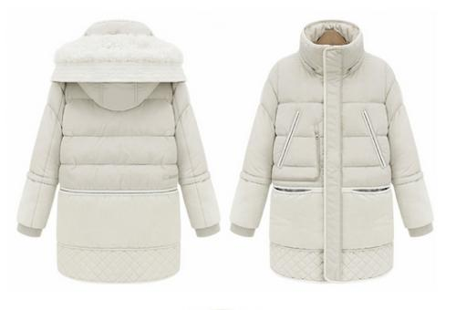 Women Lambwool Hooded Thickening Feather