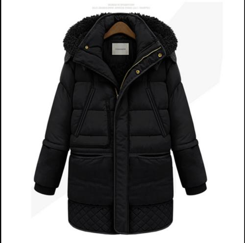 Women Hooded Thickening Warm Down Jacket Feather Long