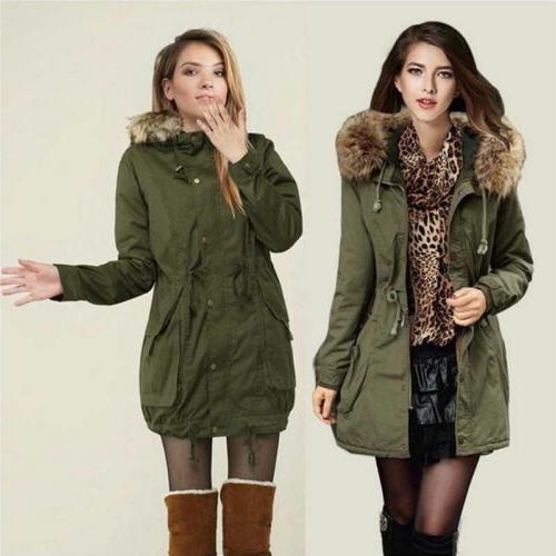 Women Hooded Thick Warm Faux Fur Hot
