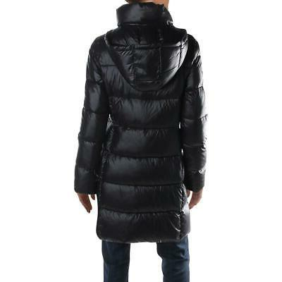 Donna Karan Asymmetric Quilted Down Insulated Puffer Coat