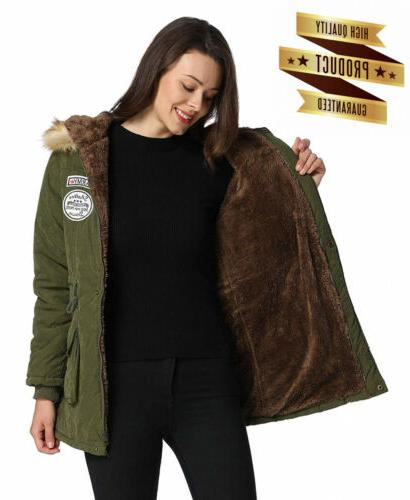 iLoveSIA Women's Fur Lined Hood Jacket
