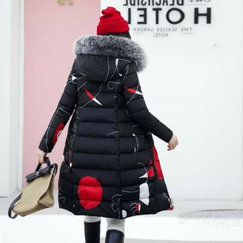 Women's Jacket Hooded Fur Collar Parka Outwear