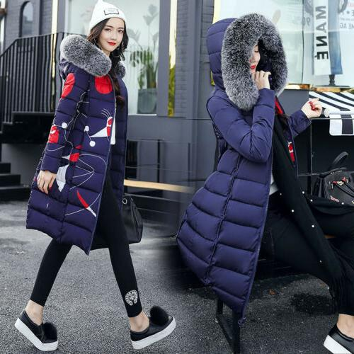 women s down cotton warm jacket hooded