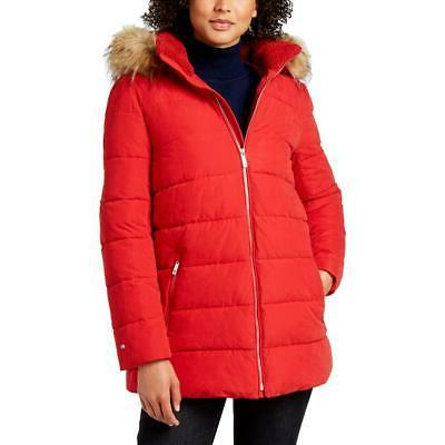 women s faux fur trimmed quilted warm