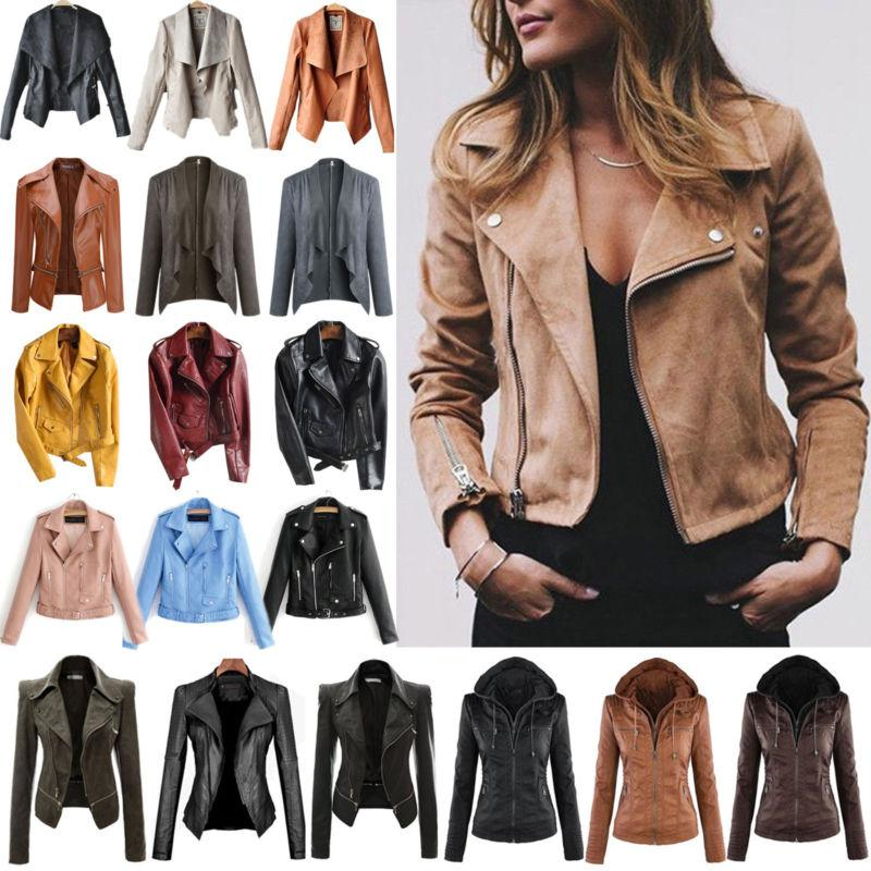 women s faux leather zip up bomber