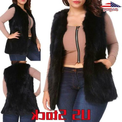 women s fluffy vest coats cardigan winter