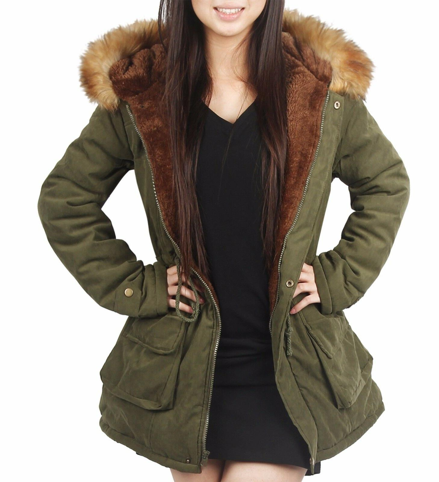iLoveSIA Women's Hooded Coats Parkas With Fur Outdoor