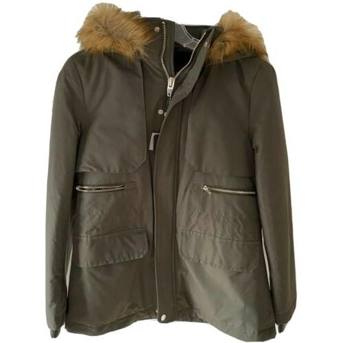 women s outerwear green hooded parka winter