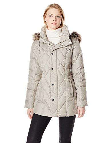 women s packable diamond quilted down coat