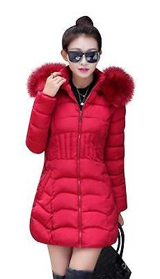 Mojessy Women's Parka Winter Coat Overcoat Long Down Jacket