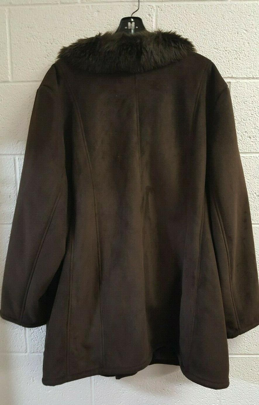 Avenue Brown Sz 30/32 Sueded Outer Fabric NWT