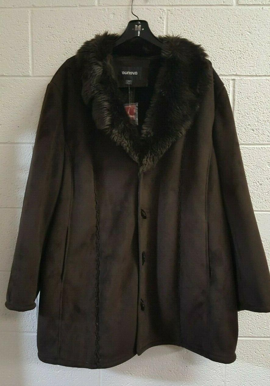 women s plus size brown winter coat