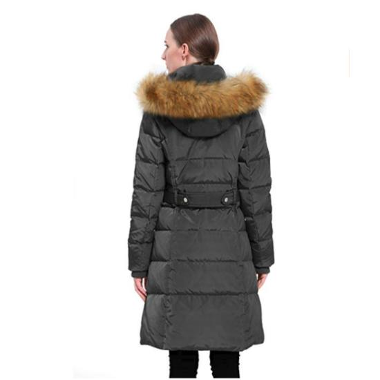 Orolay Women's Puffer Down Coat Jacket Faux Fur