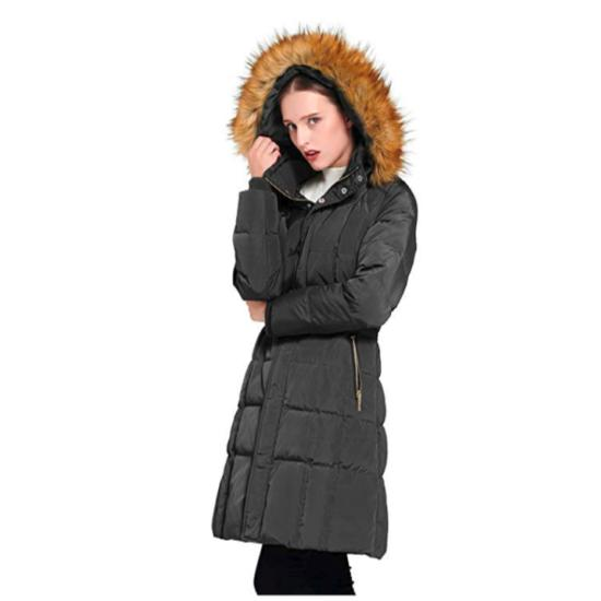 Orolay Women's Puffer Coat Winter with Faux Fur Trim