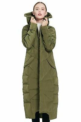 Orolay Women's Puffer Coat Winter Maxi Jacket with