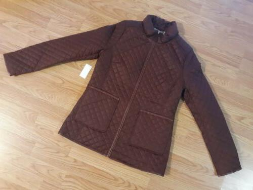 women s quilted winter jacket coat size