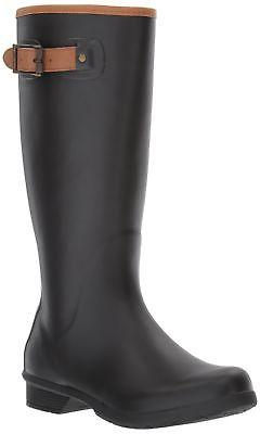 Chooka Women's Tall Memory Foam Rain Boot Black 8 M US