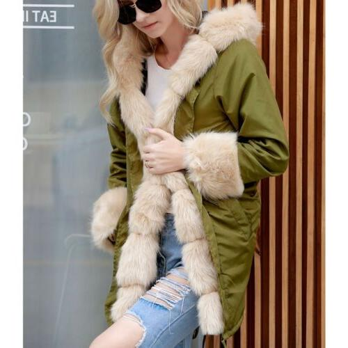 Women's Winter Coats Hooded Overcoat Jacket Outerwear