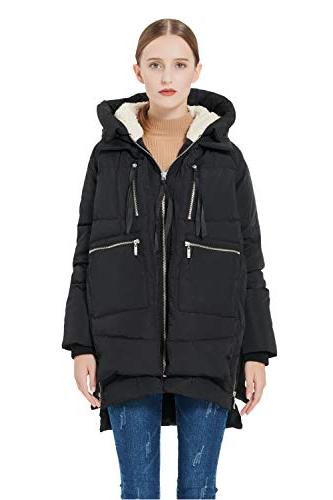 women s thickened down jacket black l
