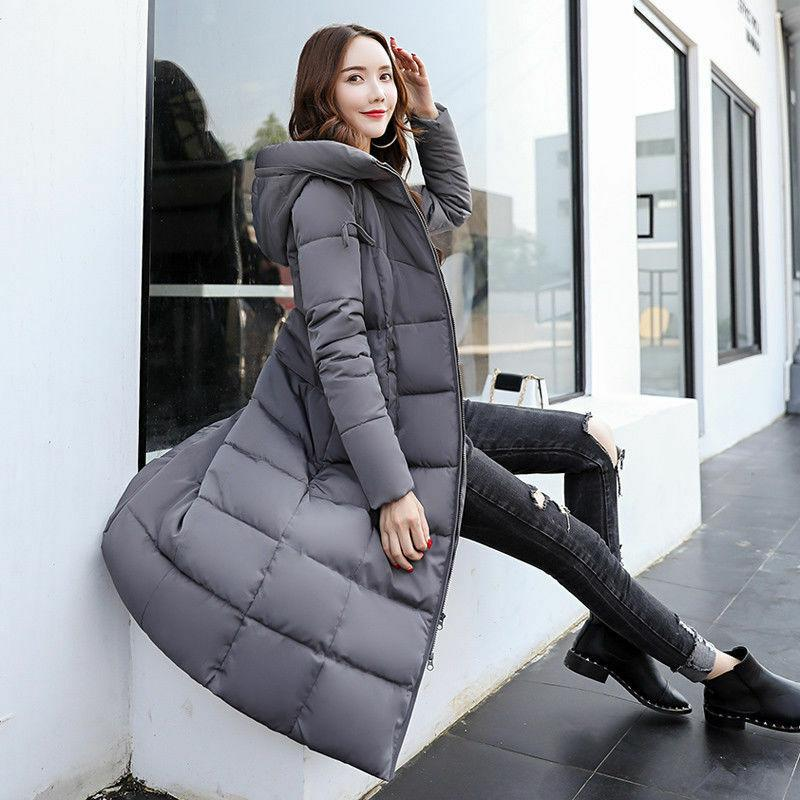 Women's Warm Hooded Coat Thicken Cotton Fit