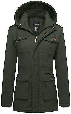 Wantdo Women's Warm Sherpa Lined Parka Coat with Removable H