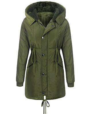 Beyove Women's Warm Winter Parka Mid-Long Coat Lined Faux Fu