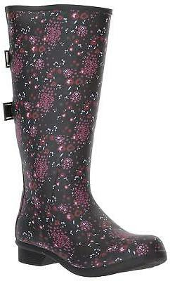 Chooka Women's Wide Calf Memory Foam Rain Boot