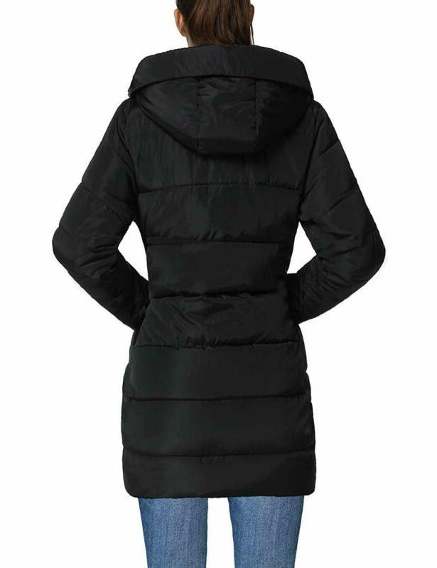 4How Women's Winter Coat Long Parka Padded Thick