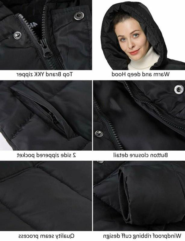 4How Long Parka Padded Thick Warm