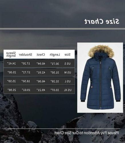 Wantdo Women's Winter Coat Thicken Outwear with Removable