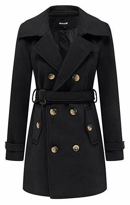 women s winter double breasted pea coat
