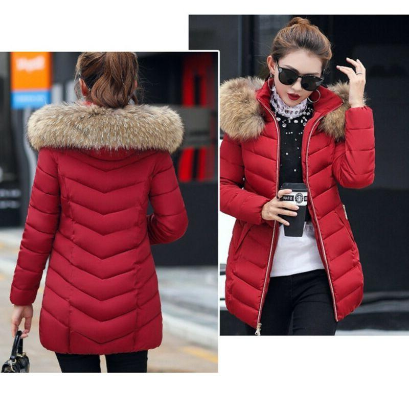 Women's Winter Parka Jacket With Collar Hot