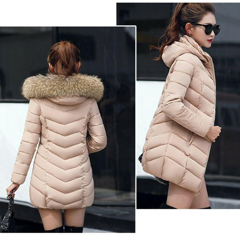 Women's Winter Down Parka Jacket With Hot