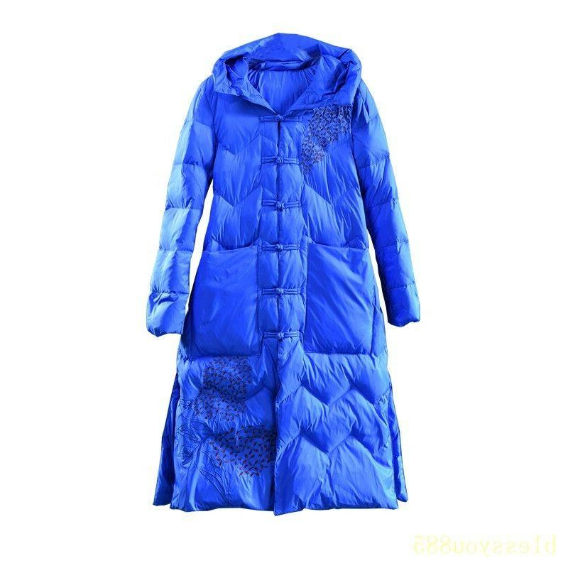 Women's Embroidered Coat Jacket Long Parkas