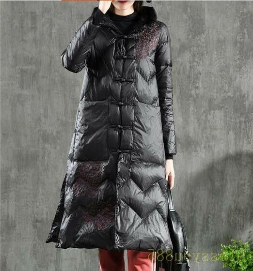 Women's Embroidered Down Parkas Coats
