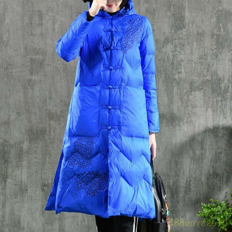 women s winter embroidered down coat jacket
