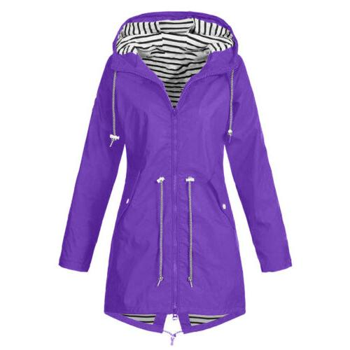 Women's Winter Coat Windproof Jacket Trench Outwear Warm Clothes US