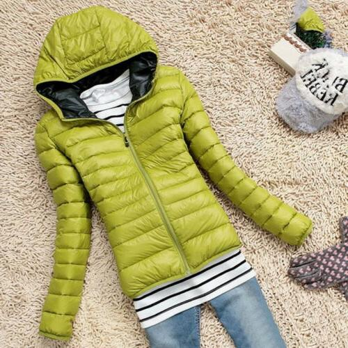 Women's Down Coat Hoodie Puffer Coats US