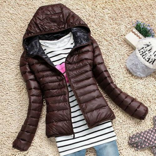 Women's Winter Down Jacket Hoodie Coats US