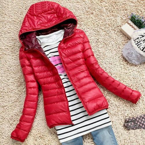 Women's Winter Hooded Down Jacket Hoodie US
