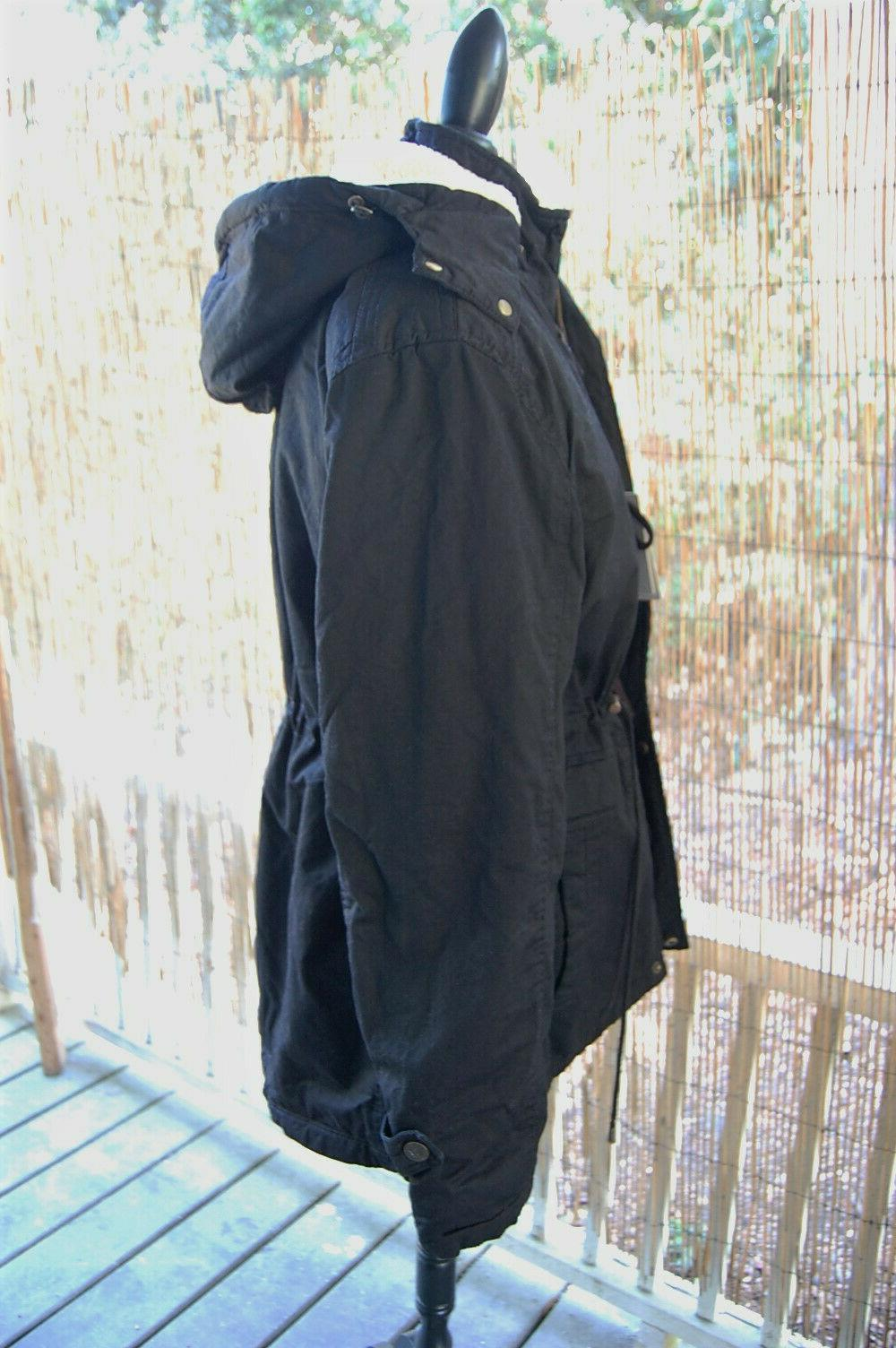 Women's Winter Jacket, Cotton, Removable Black, NWT, Wantdo,
