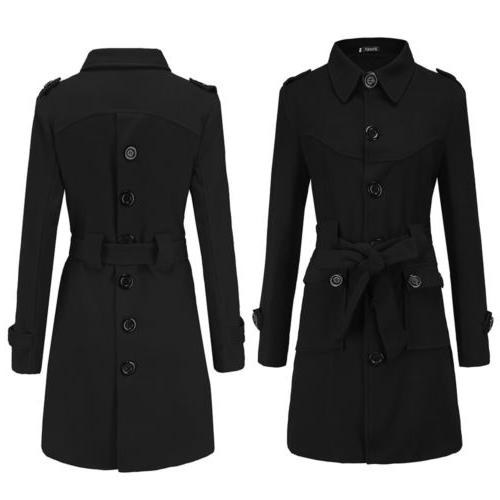 Women's Blend Coats Sigle Breasted US