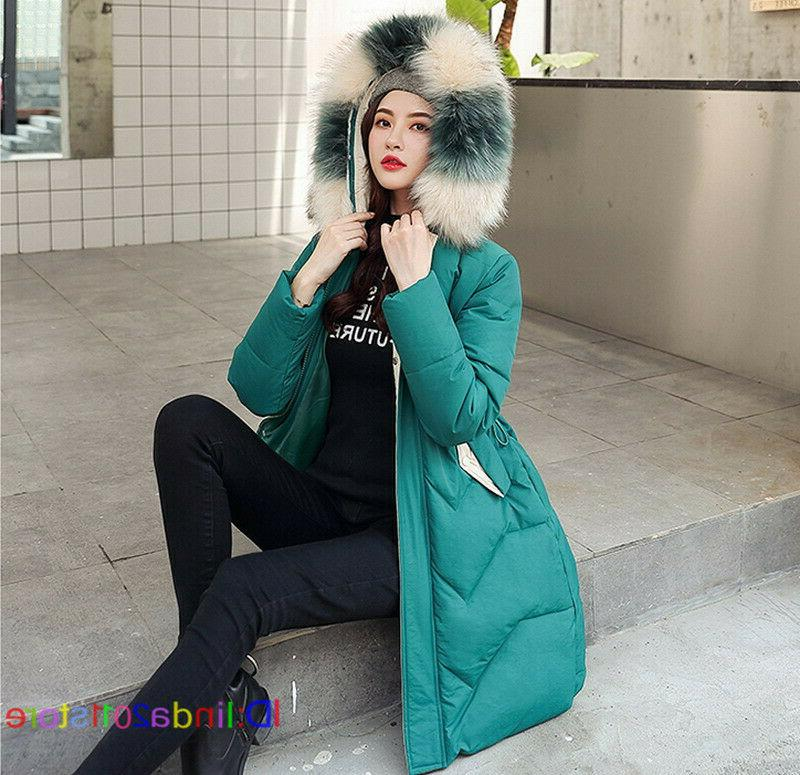 Women's Collar Hooded Down Parka