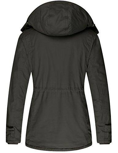 Wantdo Women's Winter Thicken Jacket Cotton Coat Removable