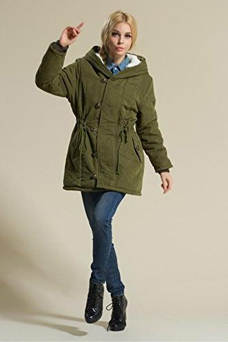 Eleter Women's Coat Hoodie Fleece Outwear Jacket Drawstring