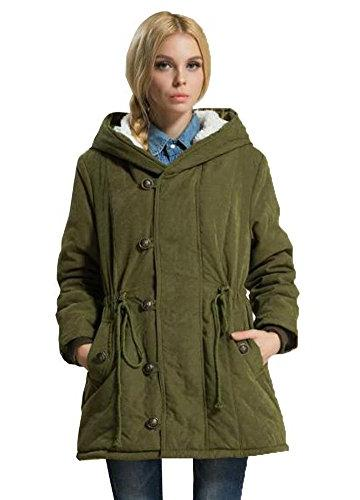 Eleter Women's Winter Coat Hoodie Parkas Fleece Outwear Jacket with Drawstring