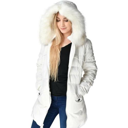 Women's Warm Parka Hooded Coat Quilted