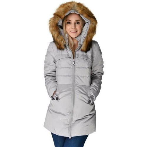 Women's Winter Parka Hooded Quilted
