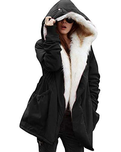 women thicken warm winter coat hood parka