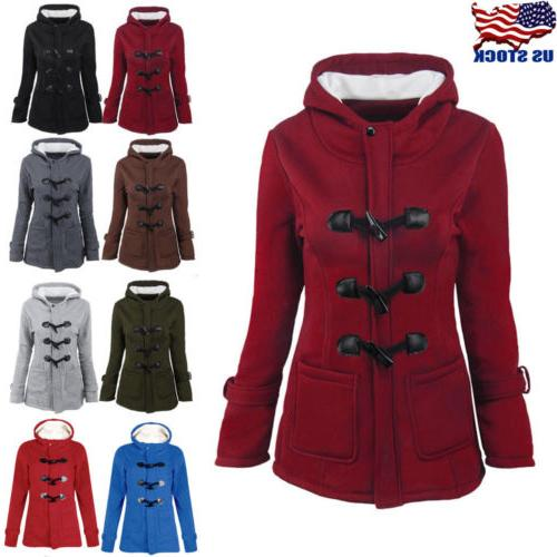 women trench parka hooded coat jacket outwear